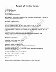 Qtp Sample Resume For Software Testers Unique Sample Resume For