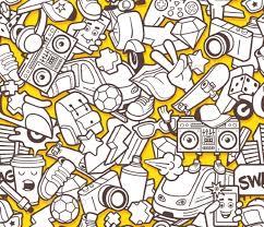 graffiti seamless pattern for coloring book patterns decorative