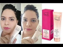 स स क र म स म कअप lakme cc cream makeup tutorial how to apply cc