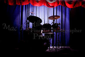 >drum set on stage metal wall art 3234 02