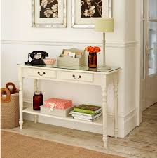 small table for hallway. Saving Small Rustic Hallway Spaces With Vintage Wood Console Table Glass Top And Bookshelf Under Drawer Metal Handle Painted White Color For L