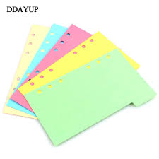 2019 New Notebook Accessories A5 A6 A7 Solid Color Page Inside Pages