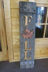 recycled wooden shutter sign for fall