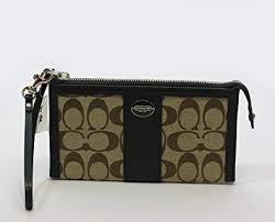 COACH Legacy Signature Zippy Wallet (Khaki)