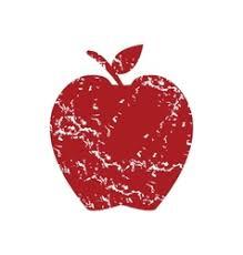 apple logo vector. red grunge apple logo vector image