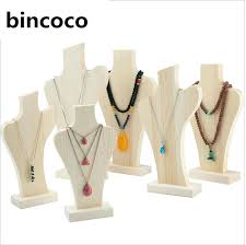 Wooden Necklace Display Stands Wood Necklace Display Holder For Store Wood Jewelry Display Stand 52