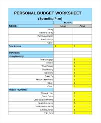 Budget Forms Pdf Personal Budget Template Essential Monthly Expenses Pdf