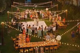 outdoor lighting for a wedding with lights craluxlightingcom trends picture dff bb aae ad