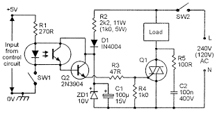 figure 8 ac power switch with ac derived dc triggering