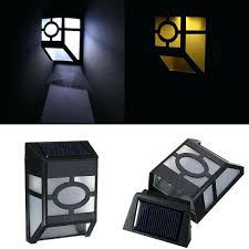 wall mounted solar lighting solar powered wall mount 2 led light lamp outdoor garden fence intended wall mounted solar lighting