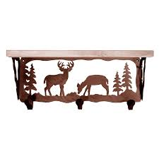 Coat Racks Deer Family Coat Rack with Shelf 100 Inch 94