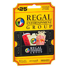 regal theaters 25 gift card1 0 ea