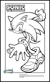Small Picture Free Printable Sonic The Hedgehog Coloring Pages For Kids Coloring