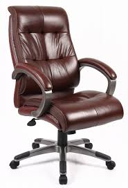 Brown leather office chair Vintage Leather Trespasaloncom Catania Brown Leather Office Chair