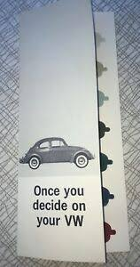 Vw Chart Details About 1963 Vw Volkswagen Beetle Bug Paint Color Brochure W Die Cut Chart Beautiful