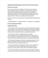 Business Manager Job Description Sample Free Digital Marketing ...