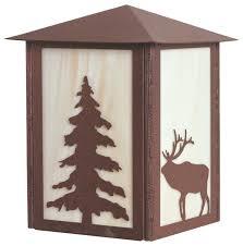 elk and tree outdoor light frontier rust