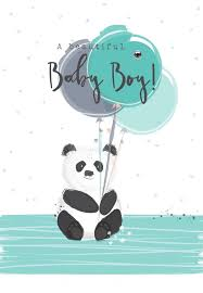 Card For Baby Boy New Baby Boy Cards A Beautiful Baby Boy New Baby Cards Newborn Baby Boy Cards Cute Panda Balloons Baby Card Baby Greeting Cards
