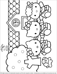 Select from 35478 printable coloring pages of cartoons, animals, nature, bible and many more. Hello Kitty Printable Coloring Picture Coloring Library