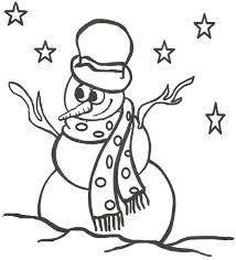 Snowman Coloring Pictures