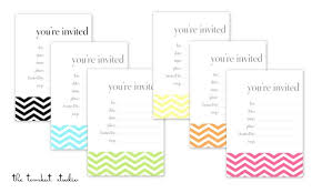 print free birthday invitations hgtv free printable chevron invitations favor tags in 6 colors