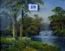 lot 379 r danford pair of 7½ x 9½ gilt framed oil