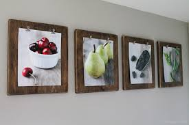 >wall art top 10 ideas wall art photography big canvas easy canvas   4 wall art photography paintingfruits apple pear blackberry peas pasted on wooden boards hanging on white