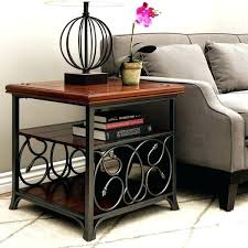 wrought iron and wood furniture. Wood And Wrought Iron End Tables Scrolled Metal . Furniture K
