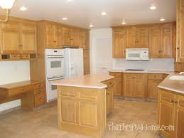 Kitchen Designs With Oak Cabinets Best The Thrifty Home Kitchen Remodel Painting Cabinets