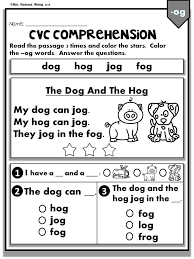 Printable worksheets for teaching students to read and write basic words that begin with the letters br, cr, dr, fr, gr, pr, and tr. Phonics Worksheets Cvc Comprehension Early Readers Kindergarten Reading Worksheets Reading Comprehension Worksheets Phonics Worksheets