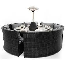 black garden furniture. maze rattan dallas sofa garden furniture set black u