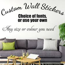 Design Your Own Wall Decal Personalised Wall Sticker Custom Text