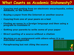 academic honesty what is expected of you ppt video online  what counts as academic dishonesty