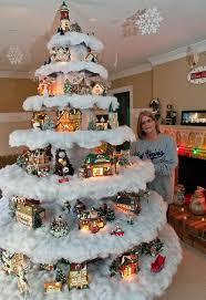 Christmas Tree Village Display Stands Fascinating Family Makes Unique Christmas Tree Village News The Dispatch
