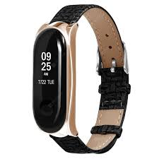 <b>TAMISTER</b> Leather Replacement Wristband for Xiaomi Mi Band 3 ...