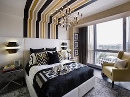 black and gold master bedroom