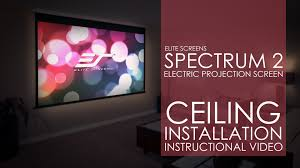elite screens spectrum series ceiling installation