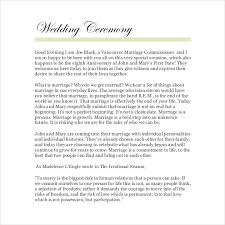 Ceremony Template 19 Wedding Ceremony Templates Free Sample Example