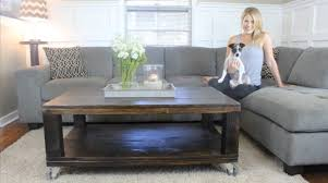 how to build a rustic coffee table diy project