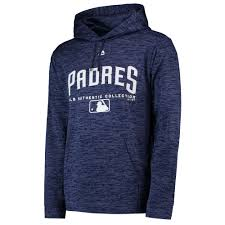 Majestic Hoodie Size Chart Details About Mlb San Diego Padres Majestic Authentic Team Drive Ultra Streak Hoodie Top