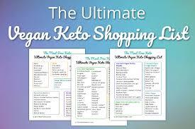 The Ultimate Vegan Keto Shopping List | Meat Free Keto