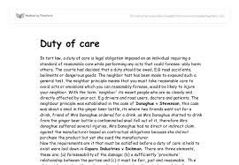 duty of care a level law marked by teachers com document image preview