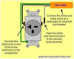 how to wire 240 volt outlets and plugs readingrat net 220 volt dryer plug wiring diagram 220 plug hook diagram using 4 wires fixya, wiring diagram