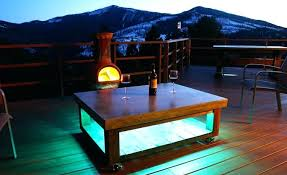 diy patio coffee table concrete coffee table with led lights diy metal bucket patio coffee table