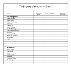inventory checklist template excel sample restaurant inventory 6 documents in pdf october