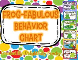 Frog Themed Behavior Chart Frog Fabulous Behavior Chart