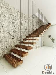 Office Stairs Wooden Floating Staircase For Office Home Suppliers And