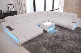 Sofa Dreams Leder Wohnlandschaft Concept Xxl Mit Ottomane