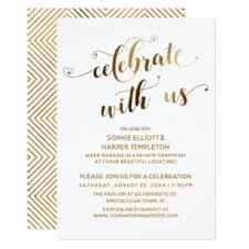 celebration invite gold celebrate with us post wedding celebration invitation