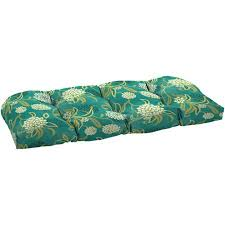 Mainstays Outdoor Oversized Wicker Settee Cushion Snowball Floral